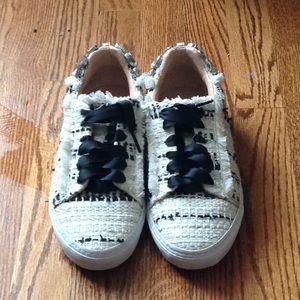 """Zara """"Tweed"""" sneakers with Rhinestone heel"""""""
